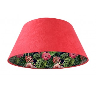 Lampa wisząca czerwona Wielki Dzwon MacoDesign Czarna róża chińska