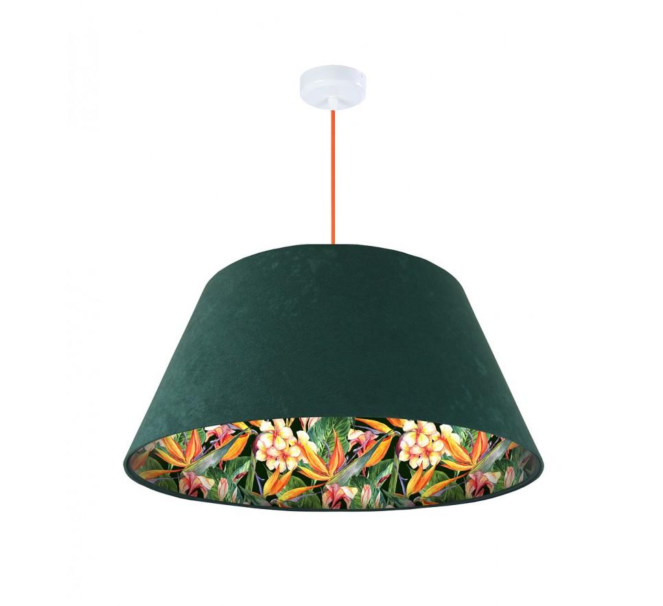 Lampa wisząca zielona Wielki Dzwon MacoDesign Egzotyczna glorioza