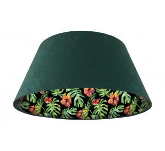 Lampa wisząca zielona Wielki Dzwon MacoDesign Egzotyczny hibiskus
