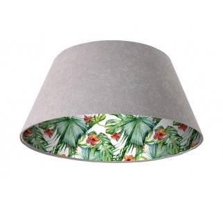 Lampa wisząca szara Wielki Dzwon MacoDesign Delikatny hibiskus