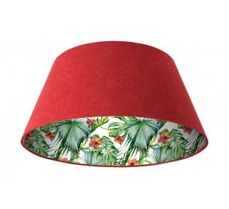 Lampa wisząca bordowo/czerwona Wielki Dzwon MacoDesign Delikatny hibiskus