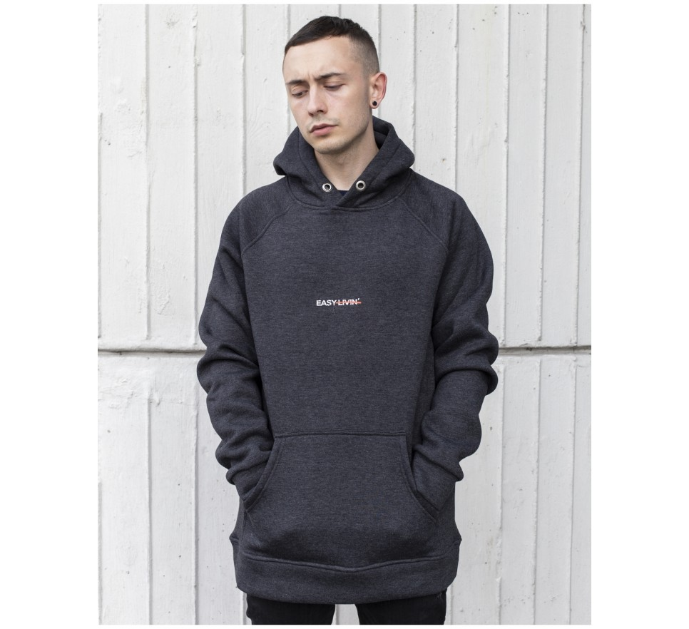 Easy livin' graphite hoodie