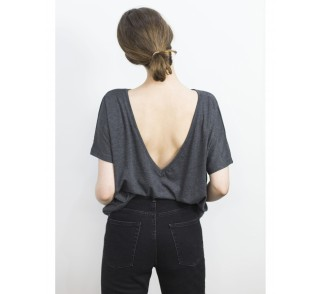Tara viscose top in grey