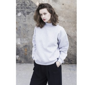 Oversized turtleneck in cool grey