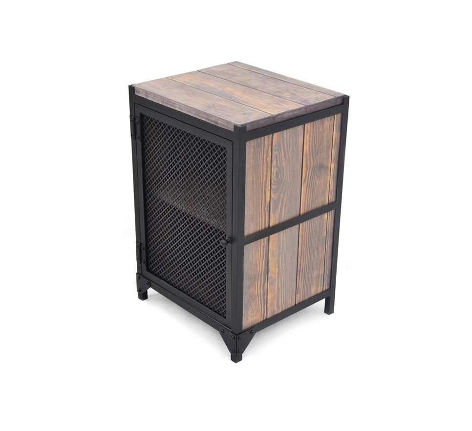 Najnowsze PERFOR szafka nocna loft styl industrialny metal blacha drewno HX73