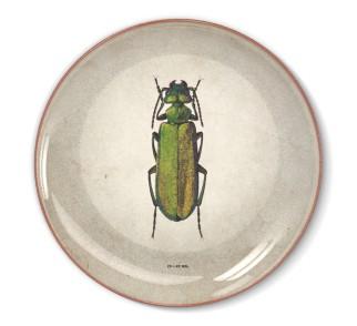 Talerz dekoracyjny Duży zielony żuk
