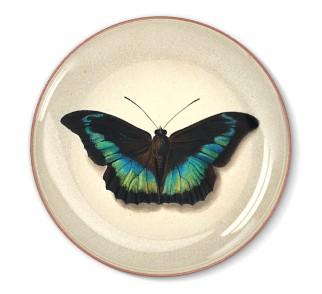 Talerz dekoracyjny Czarny Motyl