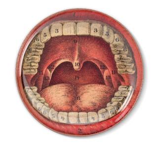 Talerz dekoracyjny Zęby