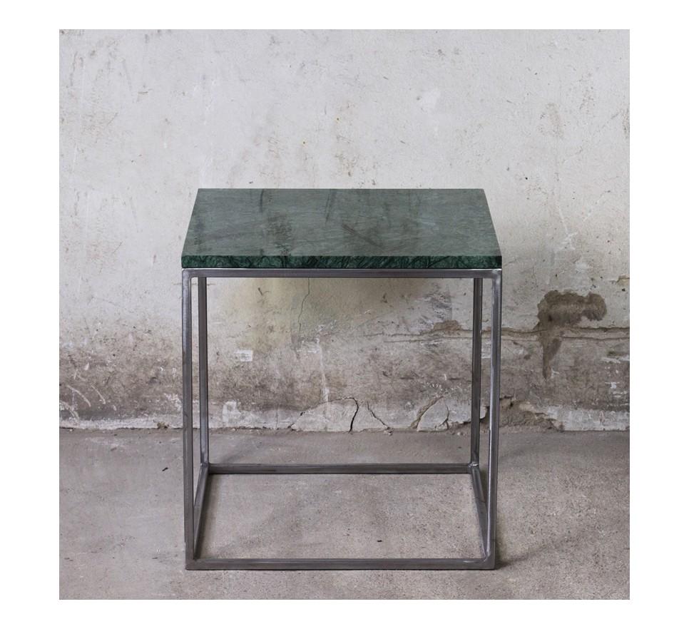 RANA Stolik kawowy metal i marmur 50x50 cm