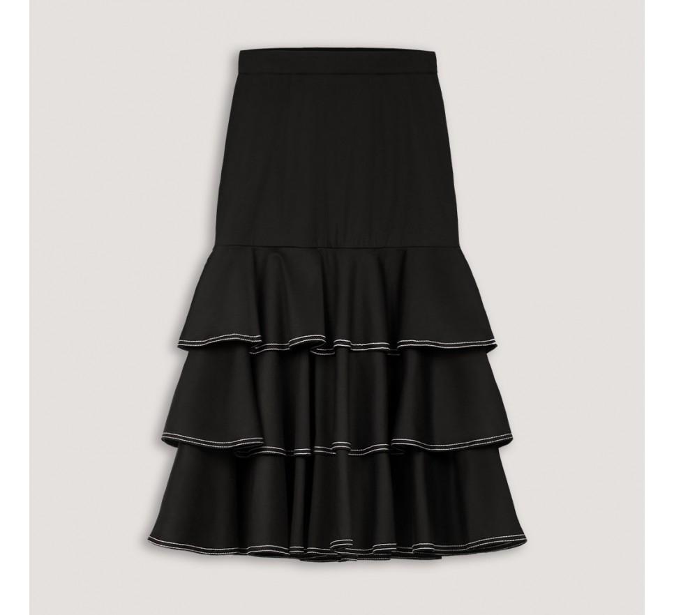 Spódnica z falbanami