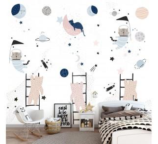 Tapeta - Mural Kropka w Kropkę z serii EasyFit dla dzieci
