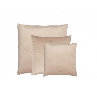 Elegancka aksamitna poduszka YES SET Beżowa