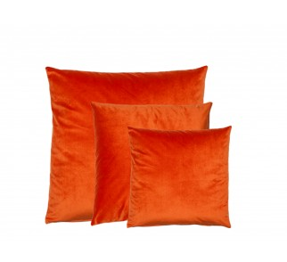 Aksamitna poduszka OLMOST LOVE SET Pomarańczowa