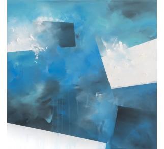 """Obraz ręcznie malowany """"Przymrozek"""" 100x100 cm"""
