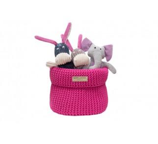 Kosz na zabawki Cotton Pink