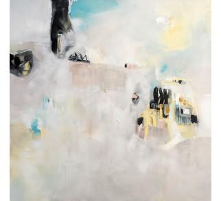 """Druk na płótnie """"Daleka podróż"""" 90x90 cm - obraz abstrakcyjny"""