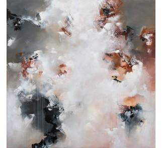 """Druk na płótnie """"Przenikanie"""" 100x100 cm - obraz abstrakcyjny"""
