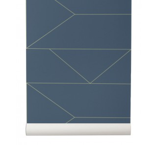 Tapeta Lines - ferm LIVING | dark blue