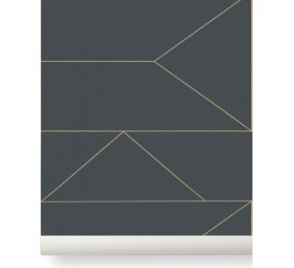 Tapeta Lines - ferm LIVING | graphite