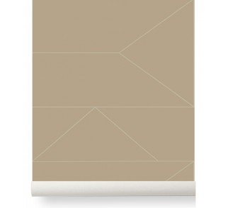 Tapeta Lines - ferm LIVING | cashmere