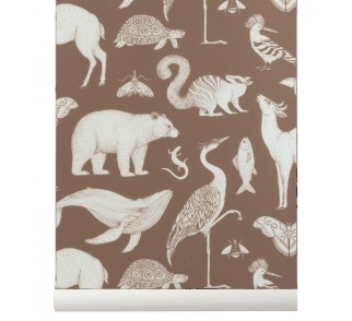 Tapeta Animals - ferm LIVING | toffee