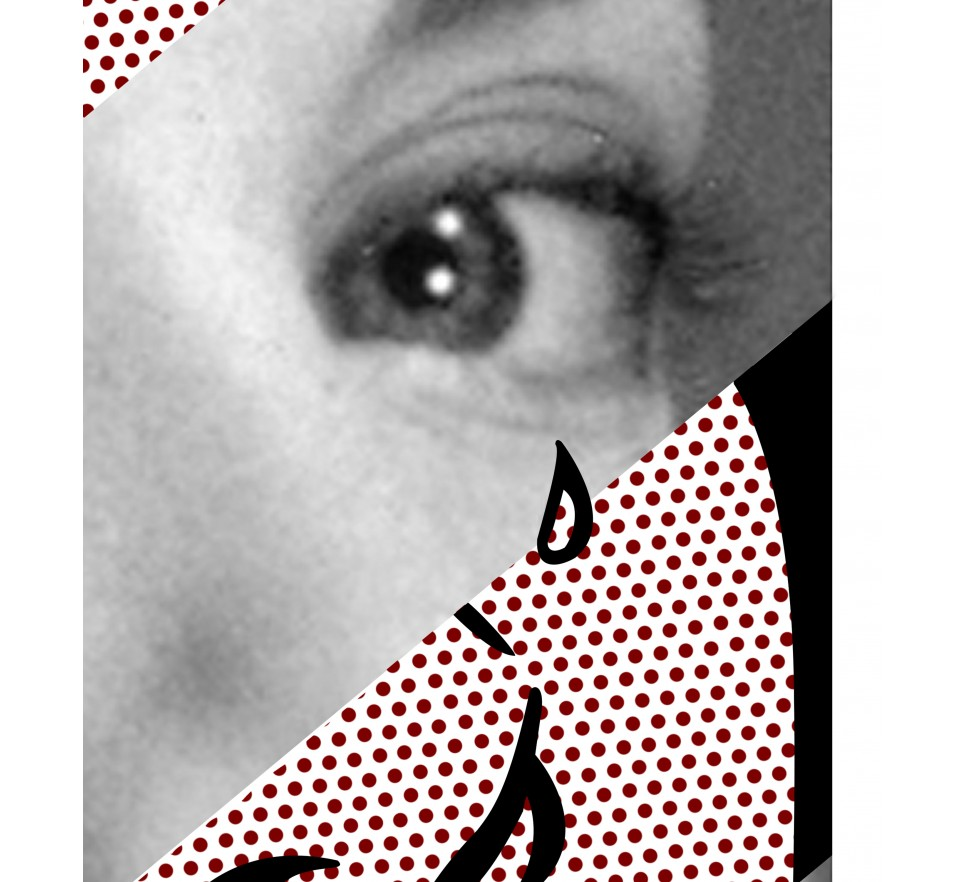 Roy Lichtenstein's Crying Girl & Grace Kelly na płótnie i plakat