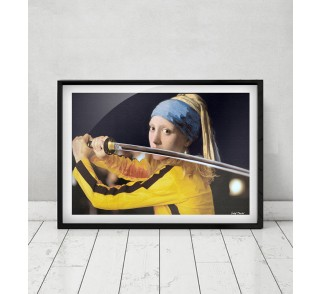 Vermeer's Girl with a Pearl Earring & Beatrix Kiddo from Kill Bill