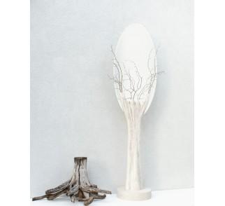 Unikatowe lustro stojące, lustro elipsa, rzeżba, art, wykonane ręcznie. Wysokość 180 cm