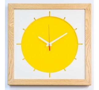 """Duży zegar """"Słońce"""". Cichy, płynący mechanizm. Zegar ścienny"""