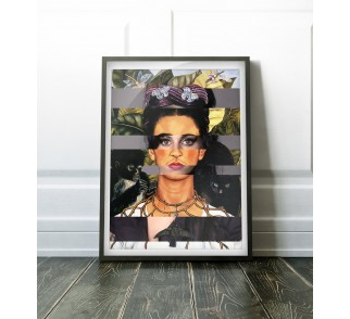 Frida's Self Portrait with Thorn Necklace & Amy Winehouse na plakat