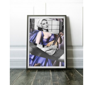 Tamara De Lempicka's Blue Woman with Guitar & Audrey Hepburn in Breakfast at Tiffany