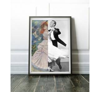 Renoir's Dance at Bougival & Fred Astaire (with Ginger Rogers) na plakat 50x70 cm