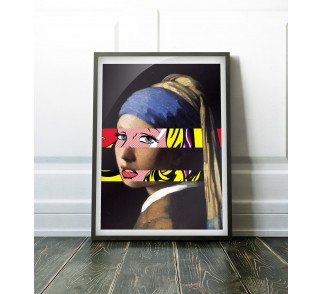 Vermeer's Girl with a Pearl Earring & Lichtenstein's Girl with a Hair Ribbon