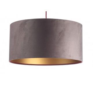 Aksamitna lampa wisząca Macodesign Sun ciemno beżowo-złota z kolekcji Glamour