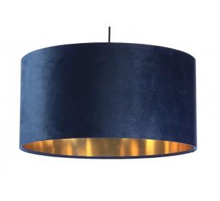 Granatowa lampa wisząca Aksamit Macodesign Sun granatowo-złota z kolekcji Glamour