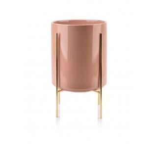 Doniczka na stojaku Neva różowa 29 cm