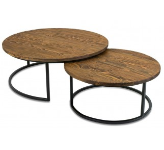 Komplet stolików LarchLoft 70 i 90 cm