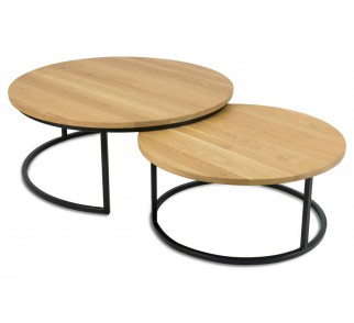 Komplet stolików OakLoft 70 i 90 cm