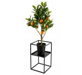 Kwietnik stojak na kwiaty z półką 40 cm
