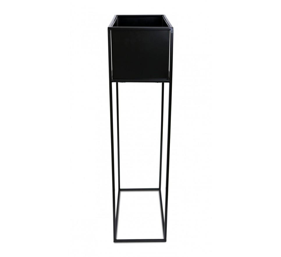 Kwietnik stojący skrzynia czarny 90 cm