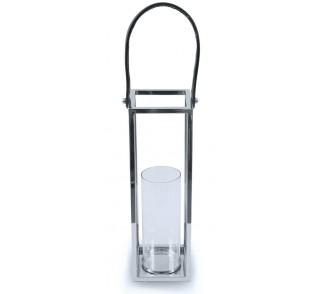 Lampion kwadratowy ze stali wys. 46 cm