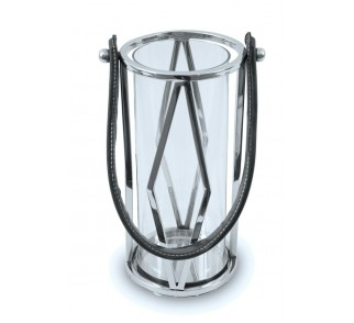 Lampion okrągły ze stali wys. 26 cm