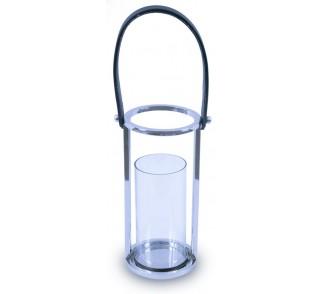 Lampion okrągły ze stali wys. 30 cm