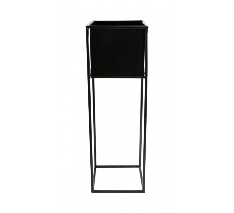 Nowoczesny kwietnik stojak czarny 70 cm