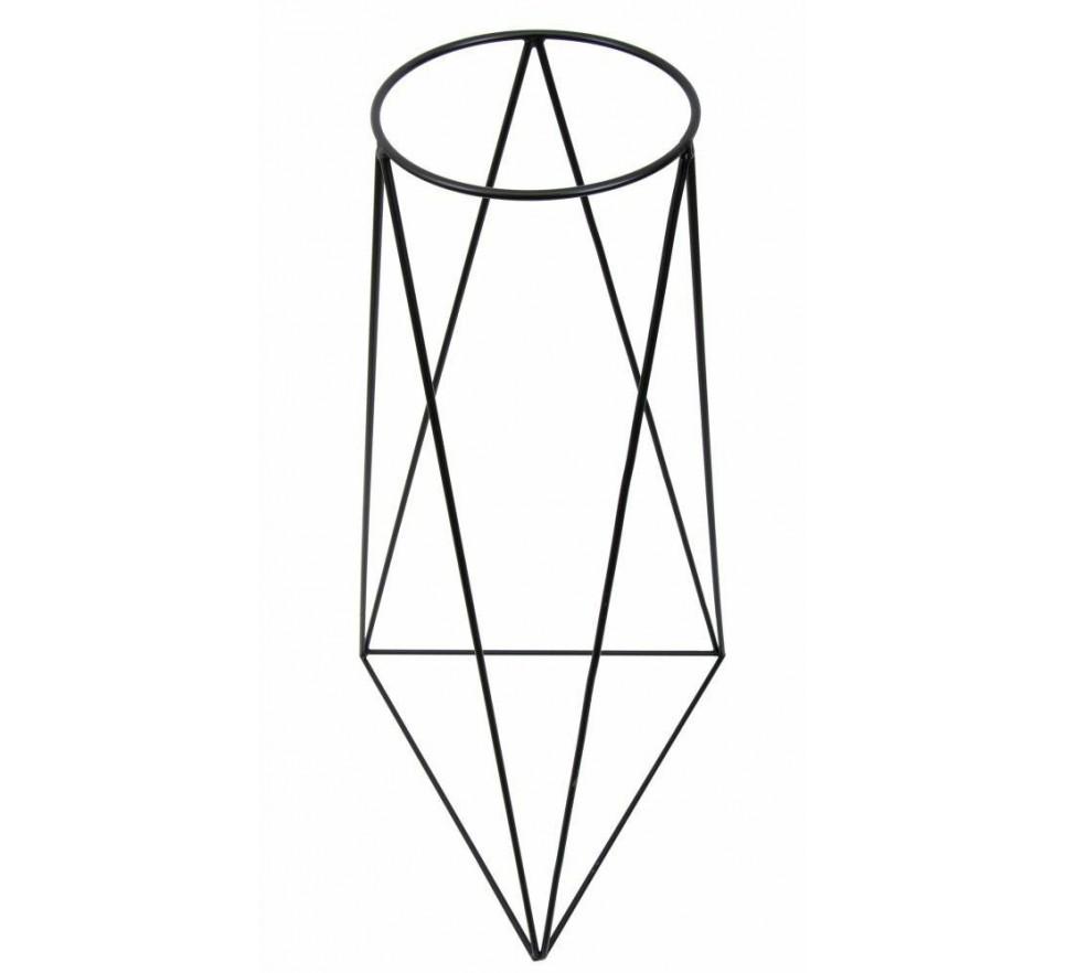 Nowoczesny kwietnik stojący 90 cm czarny