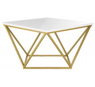 Stolik kawowy Curved 60 cm złoto biały