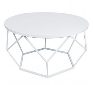 Stolik kawowy Diamond 70 cm biały