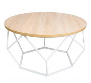Stolik kawowy Diamond 70 cm biały jasny
