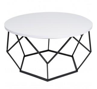 Stolik kawowy Diamond 70 cm czarno biały