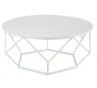 Stolik kawowy Diamond 90 cm biały